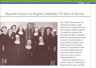 Nazareth House Newsletter